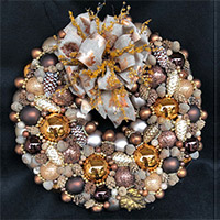 Large Autumn Pinecones Wreath
