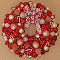 Large Candycane Wreath