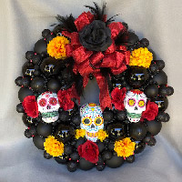 Large Tres Calaveras Wreath