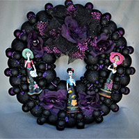 Large Tres Catrinas Wreath