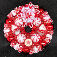 Mini Peppermint Star Wreath