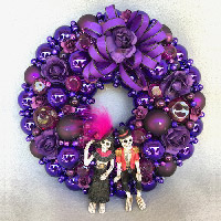 Mini Purple Love Wreath