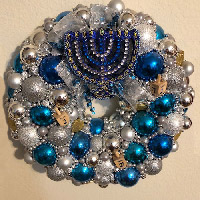 Small Hanukkah Dreidls Wreath
