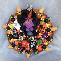 Small Purple Kitty Wreath